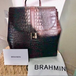 BRAHMIN SADIE COCOA SPARROW BACKPACK NWOT